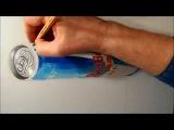 Иллюзия, Чертеж 3D Парящий Red Bull Может, длительной